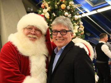 Santa and Yves Hamelin