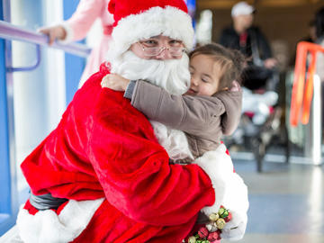 Santa in the Olympic Oval